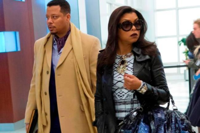 Lucious and Cookie walking at Empire
