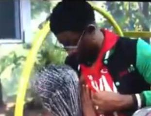 BBNaija: OMG! Diane caught sucking Seyi's nipple