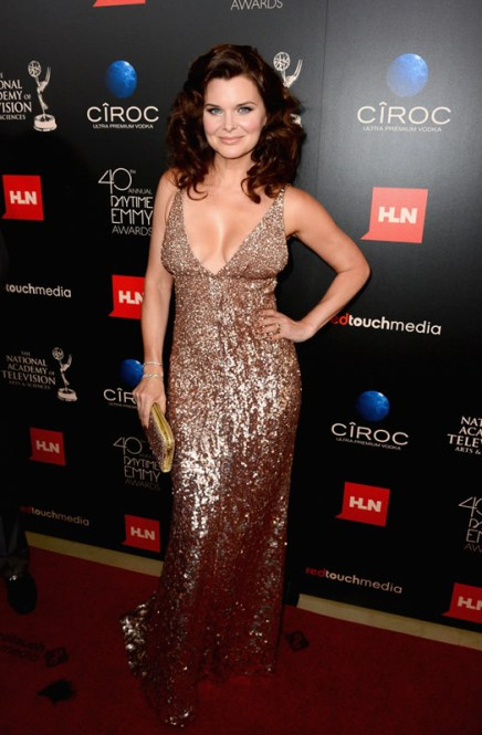 Actress Heather Tom (The Bold and the Beautiful) attends The 40th Annual Daytime Emmy Awards at The Beverly Hilton Hotel on June 16, 2013 in Beverly Hills, California. - Source: Mark Davis/Getty Images North America