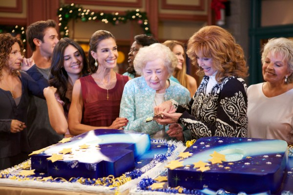 Suzanne Rogers with her mother and 'Days of our Lives' cast members
