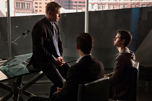 "The Tomorrow People -- ""In Too Deep"" --  Image Number: TP102B_7826.jpg —Pictured (L-R): Mark Pellegrino as Dr. Jedikiah Price and Robbie Amell as Stephen -- Photo: Jack Rowand/The CW -- © 2013 The CW Network, LLC. All rights reserved."