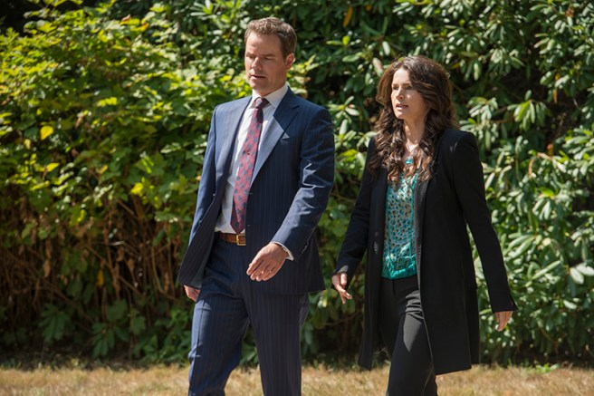 (L to R) Anthony Lemke and Julia Ormond star in an all-new episode of Witches of East End, airing Sunday, October 27, at 10pm ET/PT on Lifetime. Photo by Diyah Pera