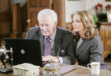 Victor (John Aniston) and Marlena (Deidre Hall) team up to expose Kristen; Photo courtesy NBC Universal