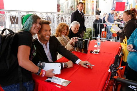 "DAYS OF OUR LIVES -- ""Universal Fan Event"" -- Pictured: (l-r) Eric Martsolf, Suzanne Rogers, John Aniston -- (Photo by: Vivian Zink/NBC)"