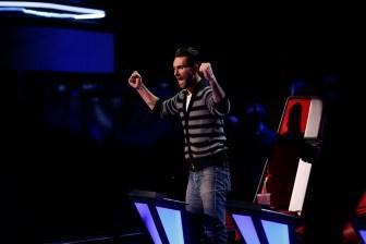 "THE VOICE -- ""Live Show"" Episode 515B -- Pictured: Adam Levine -- (Photo by: Trae Patton/NBC)"