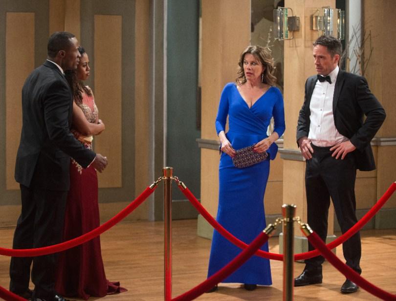 "GENERAL HOSPITAL - 2015 NURSES BALL - 3/23/15 The Nurses Ball begins airing Friday, May 1, 2015 - Tuesday, May 5, 2015 on ABC's ""General Hospital"". The Emmy-winning daytime drama ""General Hospital"" airs Monday-Friday (3:00 p.m.- 4:00 p.m., ET) on the ABC Television Network. GH15, Episodic (ABC/Todd Wawrychuk) SEAN BLAKEMORE, VINESSA ANTOINE, NANCY LEE GRAHN, WILLIAM DEVRY"