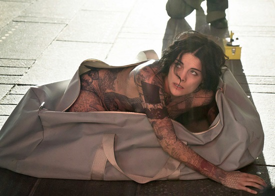 "BLINDSPOT -- ""Pilot"" --  Pictured: Jamie Alexander as Jane Doe -- (Photo by: Virginia Sherwood/NBC)"