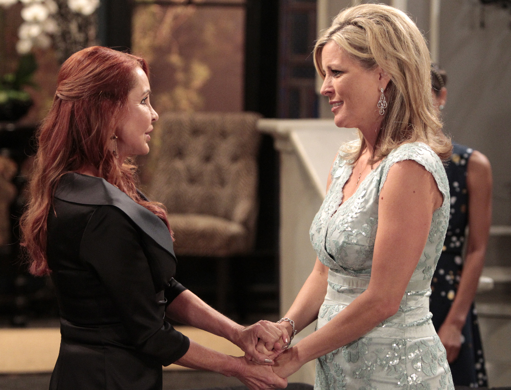 "GENERAL HOSPITAL - Jacklyn Zeman (Bobbie) and Laura Wright (Carly) in a scene that airs the week of September 7, 2015 on ABC's ""General Hospital."" The Emmy-winning daytime drama ""General Hospital"" airs Monday-Friday (3:00 p.m. - 4:00 p.m., ET) on the ABC Television Network. GH15 (ABC/Rick Rowell) JACKLYN ZEMAN, LAURA WRIGHT"