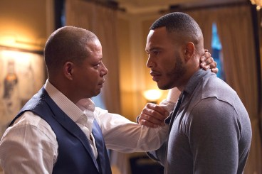 EMPIRE: Pictured L-R: Terrence Howard as Lucious Lyon and Trai Byers as Andre Lyon in the ÒFires Of HeavenÓ episode of EMPIRE airing Wednesday, Oct. 7 (9:00-10:00 PM ET/PT) on FOX. ©2015 Fox Broadcasting Co. Cr: Chuck Hodes/FOX.