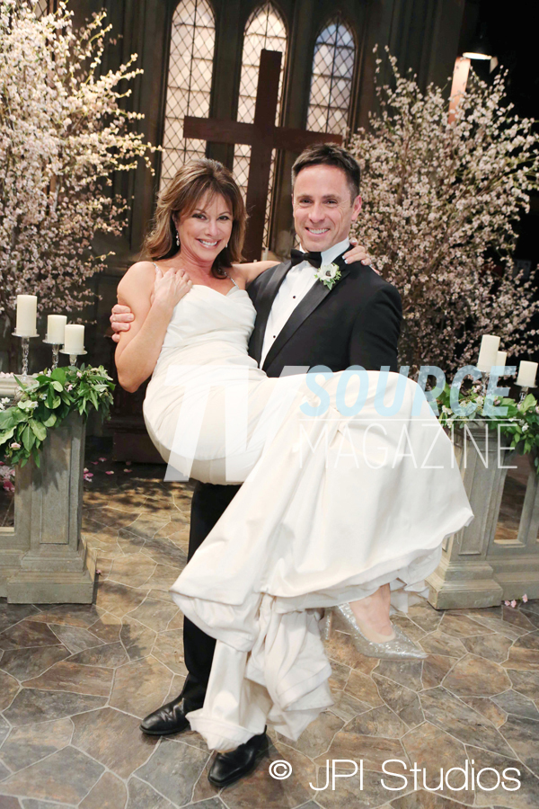 "Pictured: William deVry (Julian) and Nancy Lee Grahn (Alexis) on the ""General Hospital"" Set at The Prospect Studios Photo Credit: © Howard Wise/JPI"