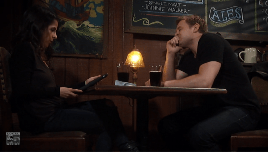 Sam and Jason hang out in a British pirate pub.
