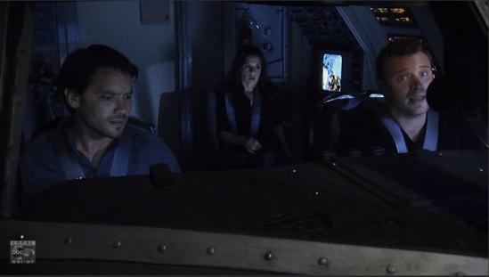 Jason and Dante fly a plane.