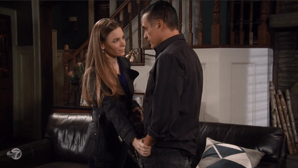 Nelle reassures Sonny that she'll stay silent.