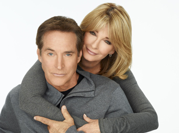 Drake Hogestyn and Deidre Hall