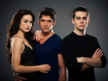 Crystal Reed, Tyler Posey and Dylan O'Brien