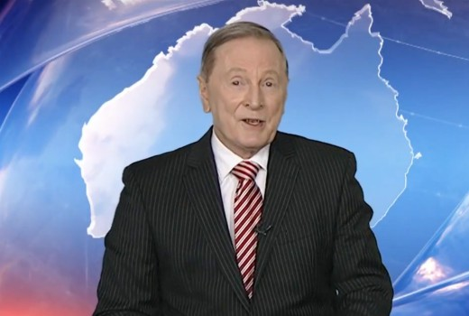 Geoff phillips celebrates 30 years at win news tv tonight for The living room channel 10 tonight