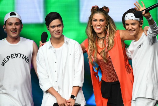 XXX performs during the Nickelodeon Slimefest 2016 matinee show at Margaret Court Arena on September 25, 2016 in Melbourne, Australia.