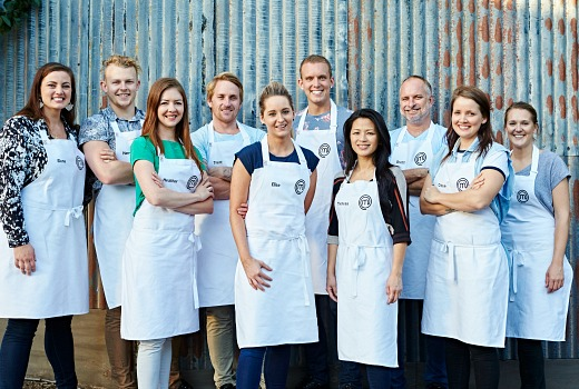 MasterChef Australia 2016 Top 10 L To R Elena, Harry, Heather, Trent, El...