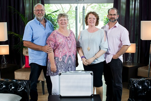 The Briefcase - Episode One - L-R - Jim and Jenny Carter, Mandy and Rod McCracken-36