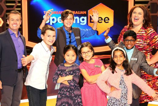 The Great Australian Spelling Bee Finalists with Grant Denyer and Chrissie Swan
