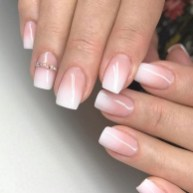 Stunning french manicure short nails