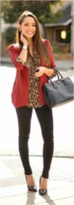 2 patterned blouse with cardigan casual office outfit source streetstyle.rocks
