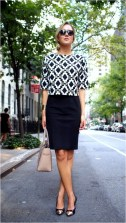 2 patterned blouse with skirt casual office outfit source lifeasmama.com