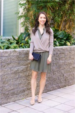 5 cardigan with skirt casual outfit casual office outfit source petitestylescript.com