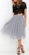 A tulle skirt is a beautiful