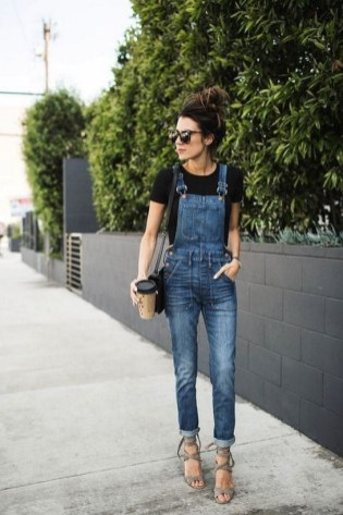 Overall with a t shirt for a casual look (2)
