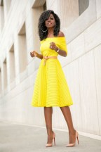 Power clashing bold pink and bright yellows