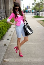 Blazer with bermuda shorts outfit