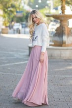 Nessa cream hello beautiful sweater maxi skirt