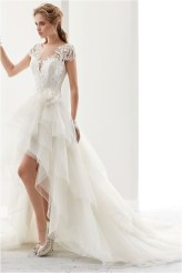 4 lace high low ruffled tulle wedding gown sourcedressaffordcom