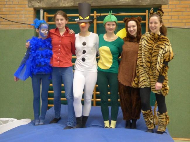 Denise und Jasmin, Antonia und Paula, Fiona und Lili