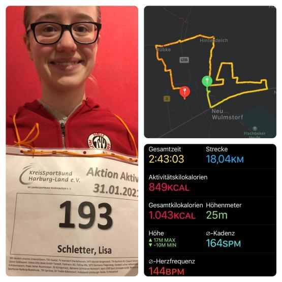 Lisa Schletter, 18.4 km