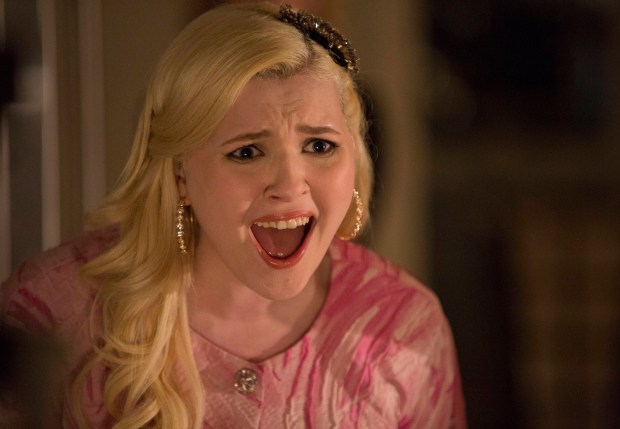 SCREAM QUEENS: Abigail Breslin as Chanel #5 is horrified on SCREAM QUEENS premiering September 2015 on FOX. ©2015 Fox Broadcasting Co. CR: Steve Dietl/FOX