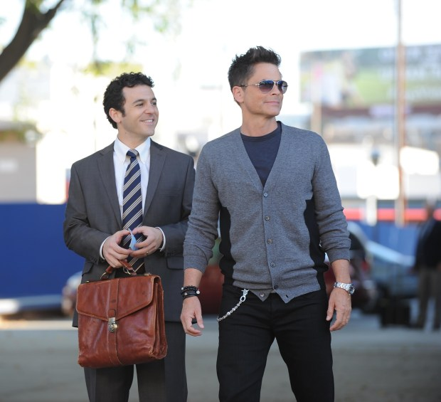 THE GRINDER:   THE GRINDER premieres this Fall on FOX.  Pictured L-R:  Fred Savage and Rob Lowe.                         ©2015 Fox Broadcasting Company.  Cr:  Ray Mickshaw/FOX