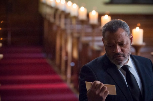 """HANNIBAL -- """"Aperitivo"""" Episode 304 -- Pictured: Laurence Fishburne as Jack Crawford -- (Photo by: Brooke Palmer/NBC)"""