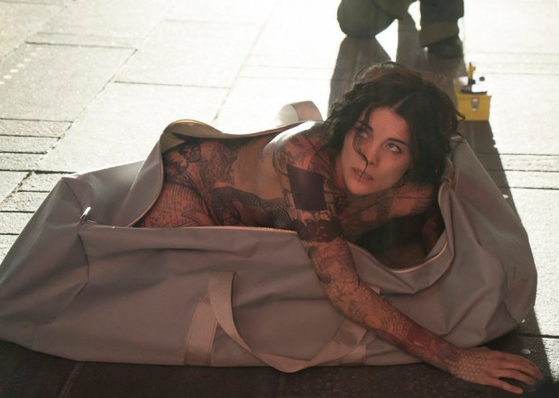 "BLINDSPOT -- ""Pilot"" --  Pictured: Jaimie Alexander as Jane Doe -- (Photo by: Virginia Sherwood/NBC)"