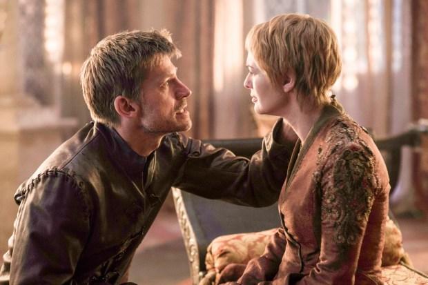 GAME OF THRONES - SEASON 6 - Nikolaj Coster-Waldau as Jaime Lannister and Lena Headey as Cersei Lannister – photo Helen Sloan/HBO
