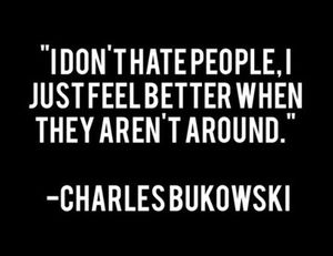solitude and bukowski