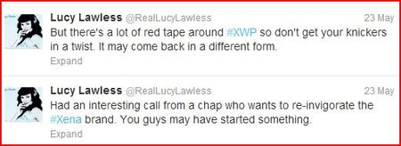 Lucy Lawless Tweets Capture