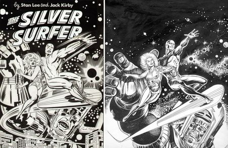 That's Jack Kirby's version on the left, with Earl Norem's variation on the right.