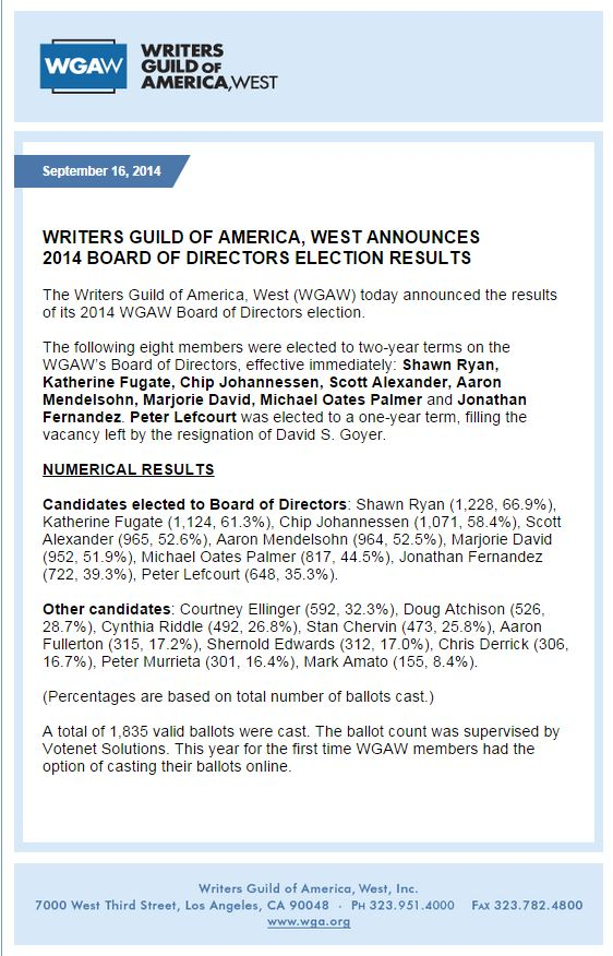 wgaw 2014 election results Capture