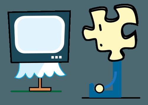 Puzzly_watching_TV