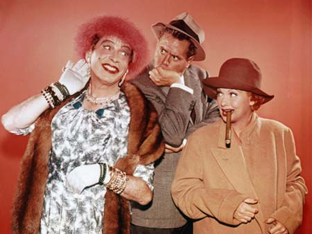"""""""Terrifyingly fascinating"""" Uncle Miltie plays with Lucy & Desi"""