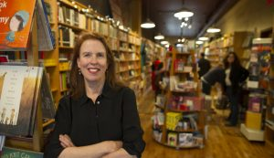 "Pamela Redmond Satran, author of, ""Younger"" inside one of her favorite Montclair bookstore, Watchung Booksellers on a recent Friday. Ms. Satran's book has been picked up by TVLand to be turned into an original TV series. Gregg Vigliotti for The New York Times"