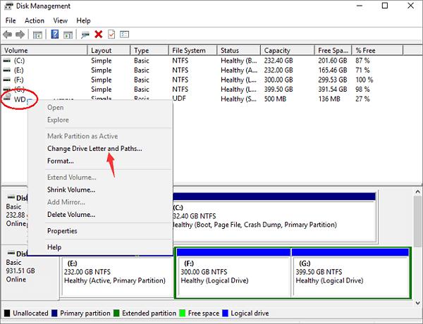 解決WD外接硬碟燈有亮但卻讀不到/無法辨識的錯誤 - EaseUS
