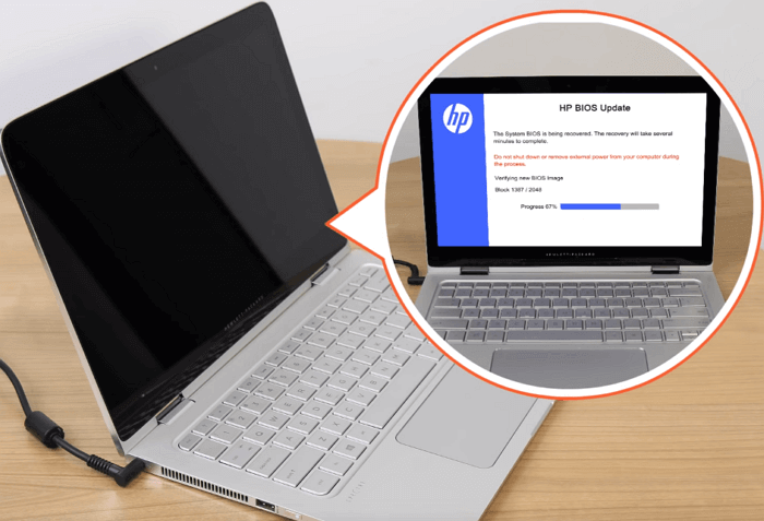 修復出現黑色畫面的HP筆記型電腦 - EaseUS